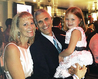 Denise Downing and Caitlin Downing with Dr. Mark Souweidane