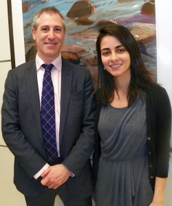 Dr. Greenfield and Emma Vartanian